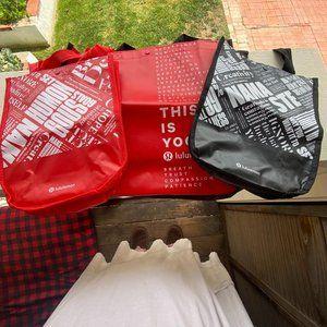 Lululemon Shopping Tote bags, 3 Medium/Large